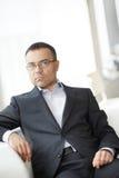 Homem de negócios atrativo imagens de stock royalty free