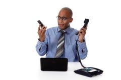 Homem de negócios atrativo novo do African-American imagem de stock