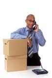 Homem de negócios atrativo novo do americano africano Fotos de Stock