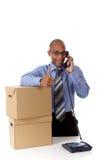 Homem de negócios atrativo novo do americano africano Fotografia de Stock