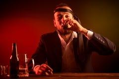 Homem de negócios bêbedo Imagens de Stock Royalty Free