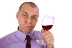 Homem de negócios bêbedo imagem de stock
