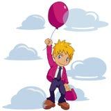 Homem de negócios Balloon Ilustração Stock