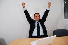 Homem de negócios bem sucedido Fotos de Stock