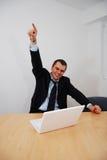 Homem de negócios bem sucedido Imagens de Stock Royalty Free