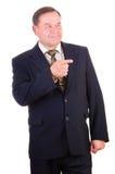 Homem de negócios bem sucedido da pessoa idosa imagem de stock