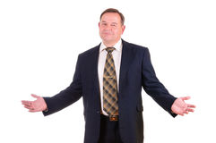 Homem de negócios bem sucedido da pessoa idosa Imagem de Stock Royalty Free