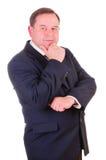 Homem de negócios bem sucedido da pessoa idosa fotografia de stock