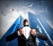 Homem de negócios bem sucedido do super-herói Foto de Stock Royalty Free
