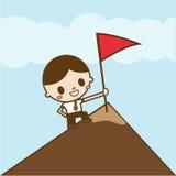 Homem de negócios bem sucedido Ilustração dos desenhos animados do conceito do negócio Fotografia de Stock