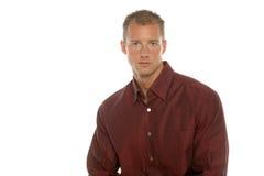 Homem de negócios bem sucedido na camisa de vestido imagem de stock royalty free