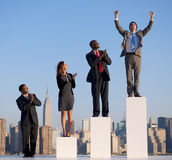 Homem de negócios bem sucedido na cidade Imagem de Stock