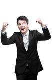 Homem de negócios bem sucedido novo Fotos de Stock Royalty Free