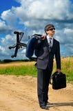 Homem de negócios bem sucedido novo Fotografia de Stock