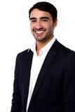 Homem de negócios bem sucedido novo de sorriso imagens de stock royalty free