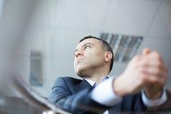 Homem de negócios calmo foto de stock royalty free