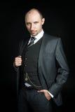 Homem de negócios calvo sério Fotos de Stock Royalty Free