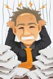 Homem de negócios cansado e forçado Imagens de Stock Royalty Free