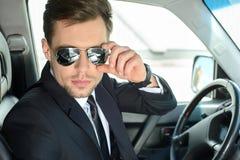 Homem de negócios In The Car fotos de stock