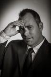 Homem de negócios caucasiano 40 anos velho isolado na Fotografia de Stock