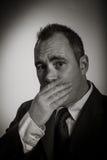 Homem de negócios caucasiano 40 anos velho isolado na Imagens de Stock