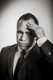 Homem de negócios caucasiano 40 anos velho isolado na Fotos de Stock Royalty Free