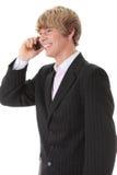 Homem de negócios chamada Imagem de Stock