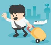 Homem de negócios Character Travel Lifestyle ilustração do vetor