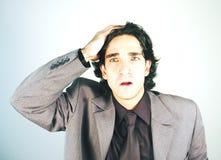 Homem de negócios chave elevado Foto de Stock