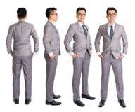 Homem de negócios cheio do Asian do corpo Foto de Stock Royalty Free