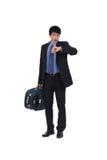 Homem de negócios chocado fotografia de stock