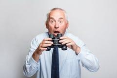 Homem de negócios chocado Fotografia de Stock Royalty Free