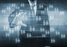 Homem de negócios Choosing a pessoa adequada Foto de Stock