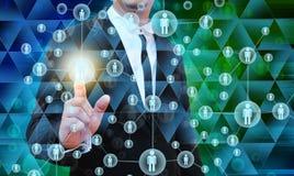 Homem de negócios Choosing a pessoa adequada Imagem de Stock Royalty Free