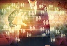 Homem de negócios Choosing a pessoa adequada Foto de Stock Royalty Free