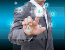 Homem de negócios Choosing a pessoa adequada Fotografia de Stock