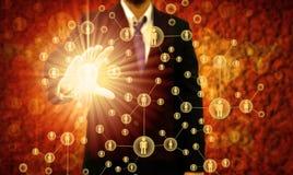 Homem de negócios Choosing a pessoa adequada Imagens de Stock
