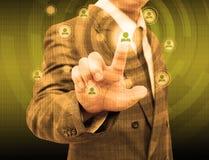 Homem de negócios Choosing a pessoa adequada Fotos de Stock