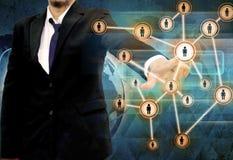 Homem de negócios Choosing a pessoa adequada no papel velho Fotos de Stock