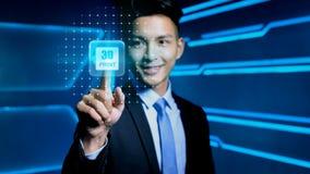Homem de negócios com ícone Imagens de Stock