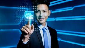 Homem de negócios com ícone Foto de Stock