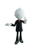 Homem de negócios com apontar a pose Imagens de Stock Royalty Free