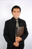 Homem de negócios com arquivo Imagem de Stock Royalty Free