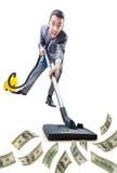 Homem de negócios com aspirador de p30 Foto de Stock