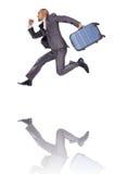 Homem de negócios com bagagem Imagem de Stock Royalty Free