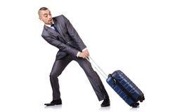 Homem de negócios com bagagem Fotografia de Stock Royalty Free