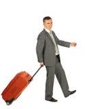Homem de negócios com bagagem Imagens de Stock