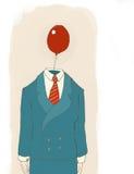 Homem de negócios com balão ilustração royalty free