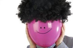 Homem de negócios com balão Imagem de Stock