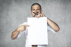 Homem de negócios com boca fechado Imagem de Stock Royalty Free
